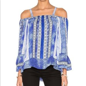 "Parker ""Dipsy"" Blouse in Olympos"